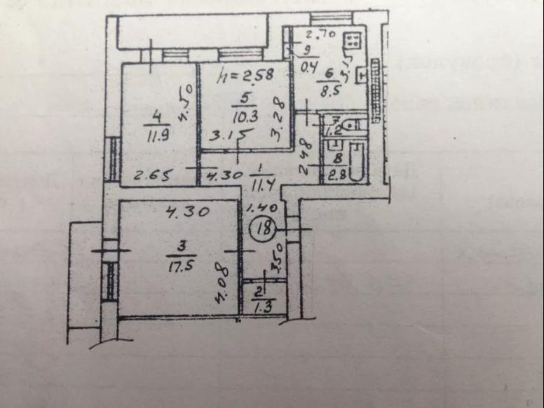 Продается 3-комн. Квартира, 70 м² - цена 17000 у.е. (Объявление:№ 62416) Фото 1
