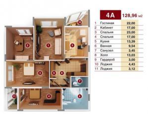 Продается Квартира, пр-т Панфилова  21, район Киевский, город Донецк, Украина